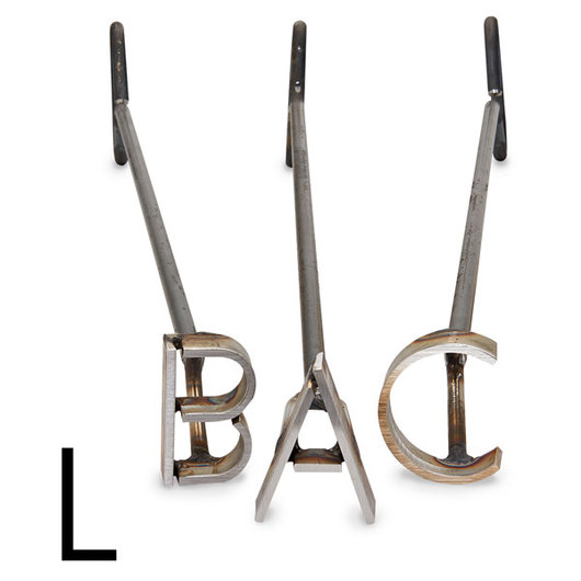 L & H Stainless Steel Branding Iron - 3 in. Single Letter L