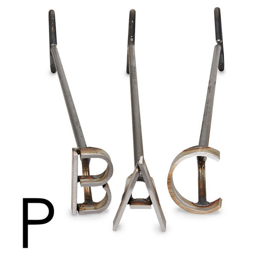 L & H Stainless Steel Branding Iron - 3 in. Single Letter P