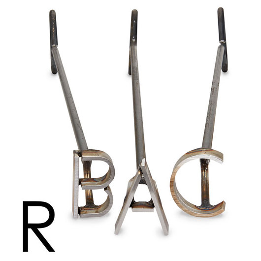 L & H Stainless Steel Branding Iron - 3 in. Single Letter R