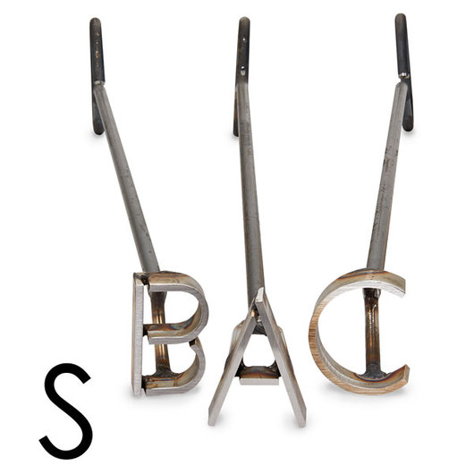 L & H Stainless Steel Branding Iron - 3 in. Single Letter S