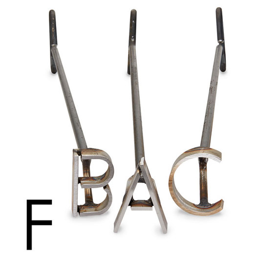 L & H Stainless Steel Branding Iron - 4 in. Single Letter F