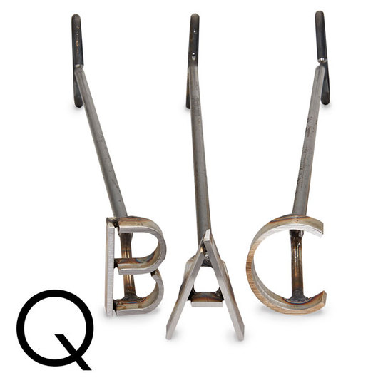 L & H Stainless Steel Branding Iron - 4 in. Single Letter Q
