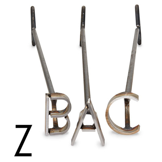 L & H Stainless Steel Branding Iron - 4 in. Single Letter Z