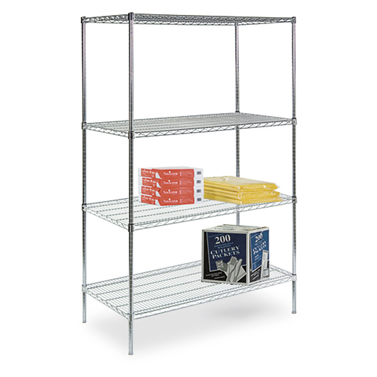4-Shelf Storage Rack - 36 in. W x 24 in. D x 72 in. H