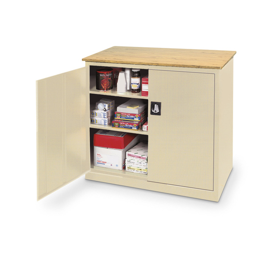 Extra-Wide Storage Cabinet - Light Gray