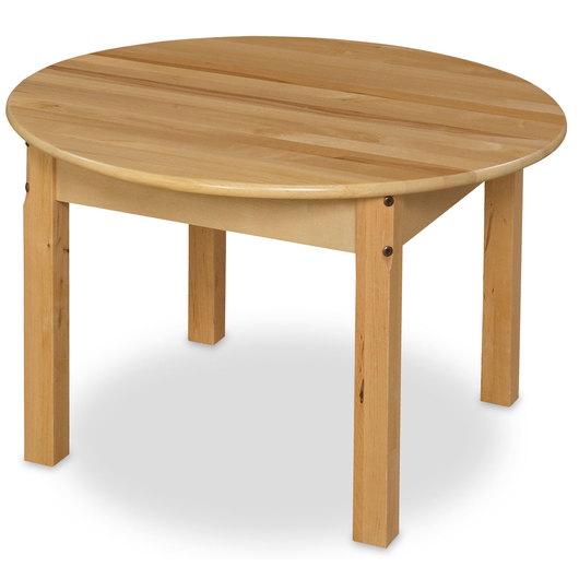 Wood Designs™ 30 Round Wooden Table - 18 Legs