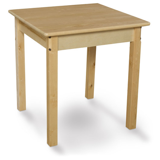 Wood Designs™ 24 in. Square Wooden Table - 22 in. Legs