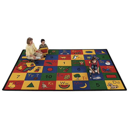 Blocks of Fun Carpets - 4 ft. 5 in. x 5 ft. 10 in. Rectangle
