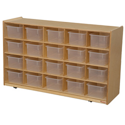 Mobile 20 Section Cubby Storage Unit