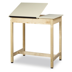Diversified Woodcraft Drafting/Art Table - 36 in. H with Two-Piece Adjustable Top