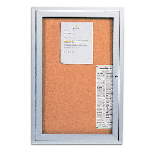 Enclosed Cork Bulletin Board - 2 ft. x 3 ft. - One Door