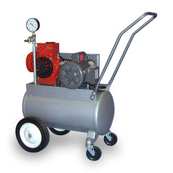 Porta-Milker Vacuum Pump for One Milking Machine with Four-Wheel Base - Electric Motor 1 hp Motor