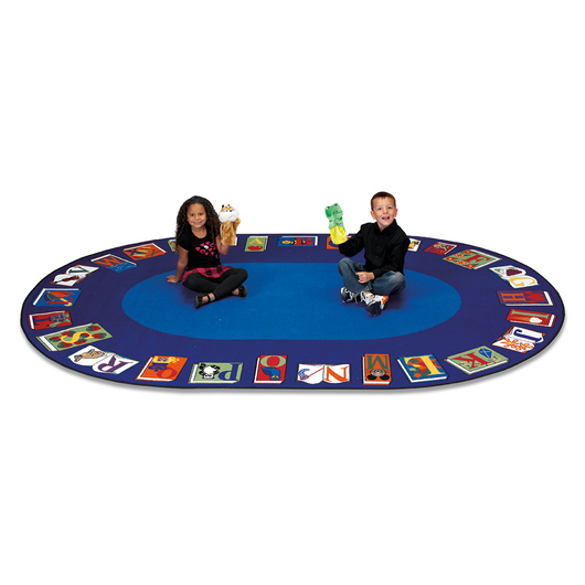 Reading by the Book Carpet - 8 ft. 3 in. x 11 ft. 8 in. Oval