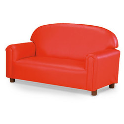 Nasco Preschool Vinyl Furniture - Red Sofa