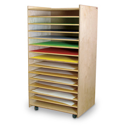 Wood Designs Paper and Puzzle Mobile Storage Center