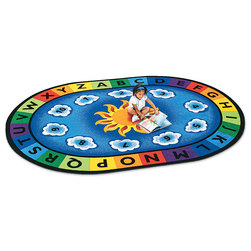 Sunny Day Learn & Play Carpet - Oval