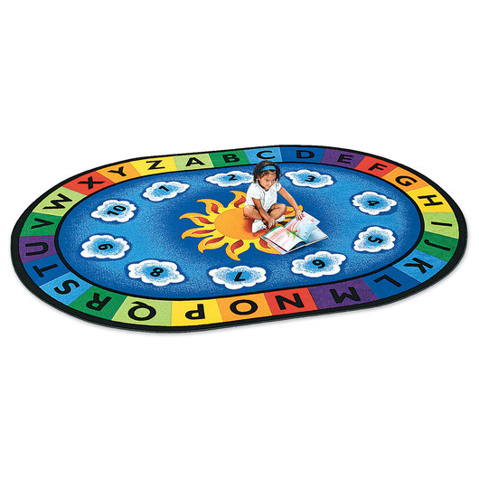 Sunny Day Learn & Play Carpet - 4 ft. 5 in. x 5 ft. 10 in. Oval
