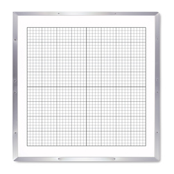 Double-Sided 4-ft. x 4-ft. Write & Wipe Coordinate Board