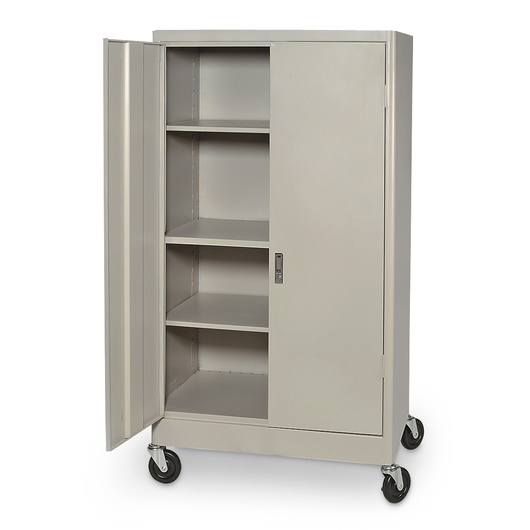 4-Shelf Mobile Storage Cabinet