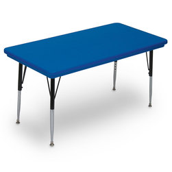 Adjustable Height Colored Activity Table
