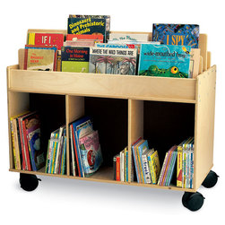 Whitney Brothers TwoSided Library Cart
