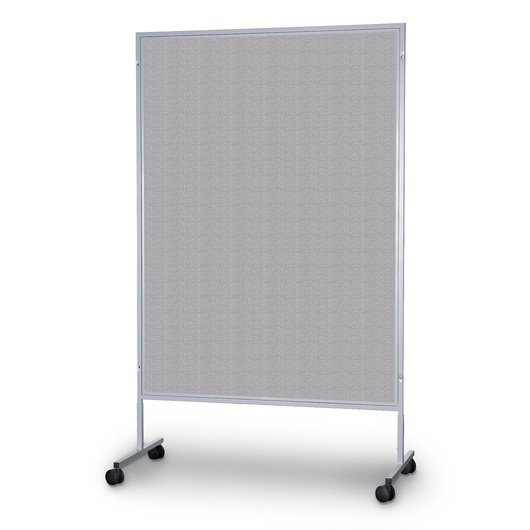 The Miller Group Portable Display Panel - Gray Vinyl - 48 in. x 80 in.