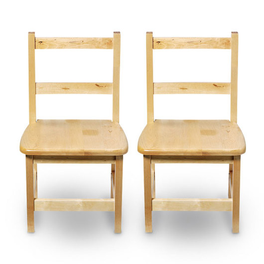 Wood Designs™ Wooden Chairs - Pair of 12 in. H Chairs