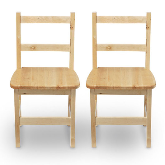 Wood Designs™ Wooden Chairs - Pair of 14 in. H Chairs