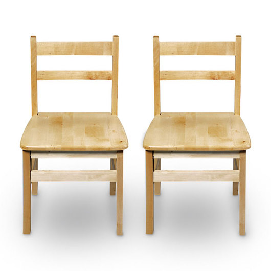 Nasco Wooden Chairs - Pair of 16 H Chairs