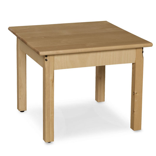 Wood Designs™ 30 in. Square Wooden Table - 18 in. Legs