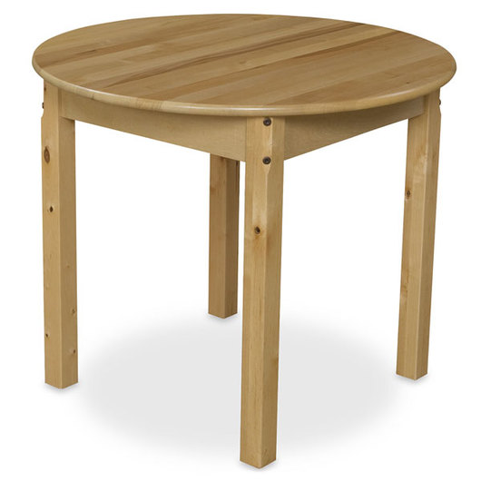 Wood Designs™ 30 in. Round Wooden Table - 24 in. Legs