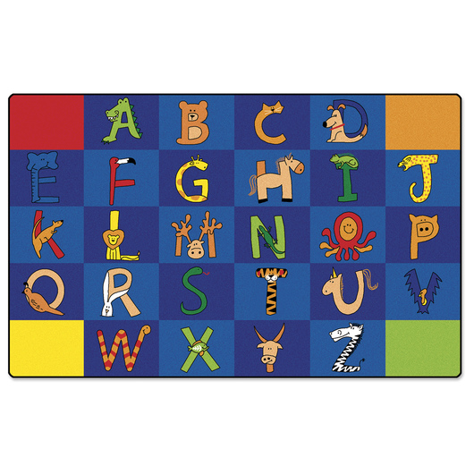A to Z Animals Alphabet Rug - Rectangle - 7 ft. 6 in. x 12 ft.