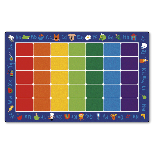 Fun with Phonics Seating Carpet - 8 ft. 4 x 13 ft. 4 Rectangle