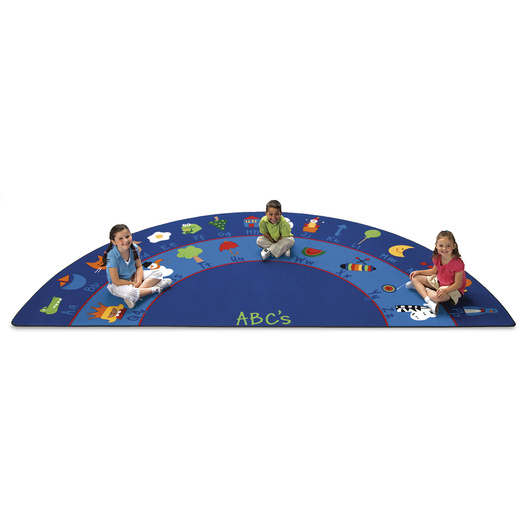 Fun with Phonics Seating Carpet - 5 ft. 10 in. x 11 ft. 8 in. Semicircle