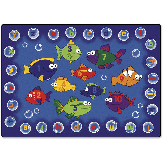 Fishing for Literacy Carpet - 3 ft. 10 in. x 5 ft. 5 in. Rectangle