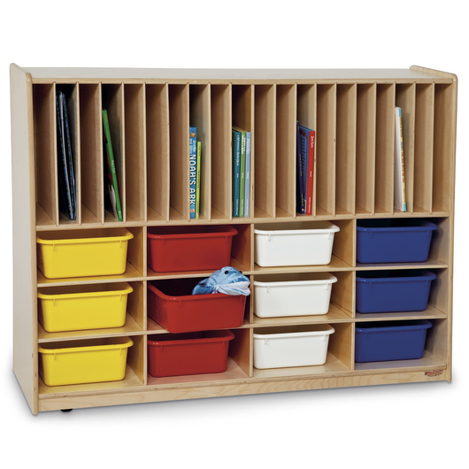 Wood Designs™ Tip-Me-Not™ Portfolio Storage Center with 12 Trays