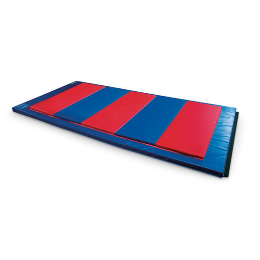 1-1/2 Thick Polyethylene Foam Mat with Hook-and-Loop on 4 Sides - Rainbow, 4 ft. x 6 ft.