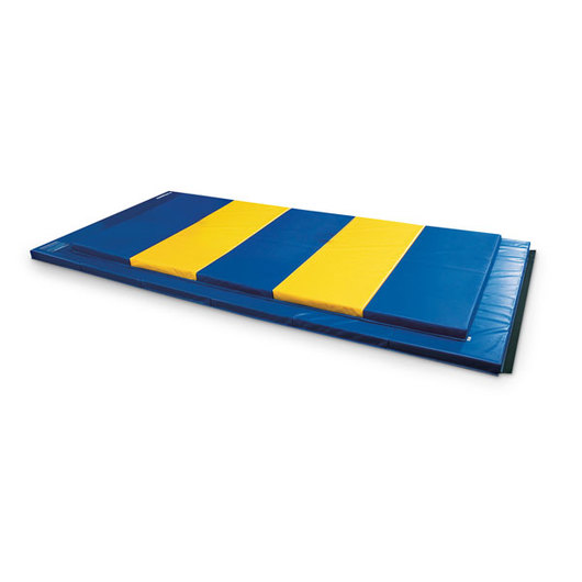 2 in. Thick Rebond Foam Mat with Hook-and-Loop on 4 Sides - Royal Blue, 4 ft. x 8 ft.