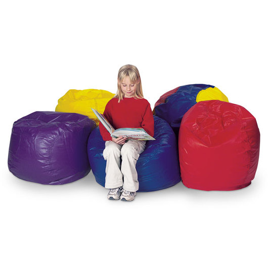 Brown Sales Child-Size Beanbag Chair - Blue