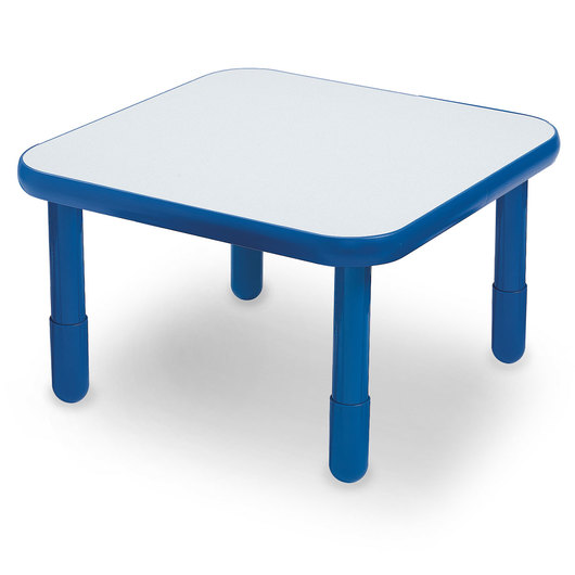 Angeles® BaseLine® 30 in. W x 30 in. L x 18 in. H Square Activity Table - Royal Blue