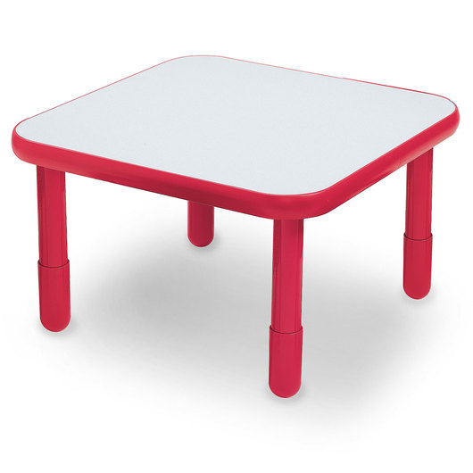 Angeles® BaseLine® 30 in. W x 30 in. L x 18 in. H Square Activity Table - Candy Apple Red