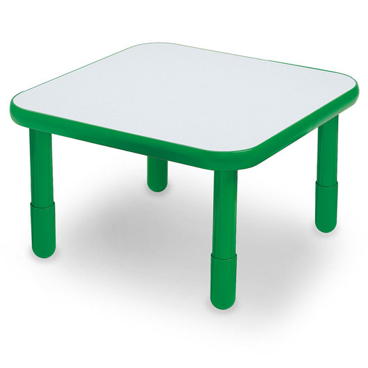 Angeles® BaseLine® 30 in. W x 30 in. L x 18 in. H Square Activity Table - Shamrock Green