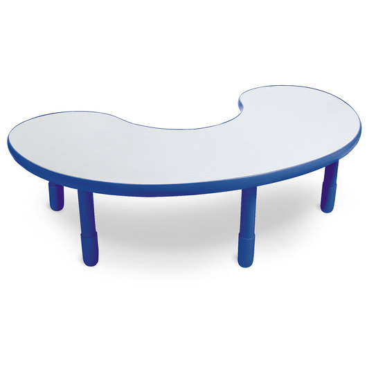 Angeles® BaseLine® 38 in. W x 65 in. L x 18 in. H Kidney Activity Table - Royal Blue