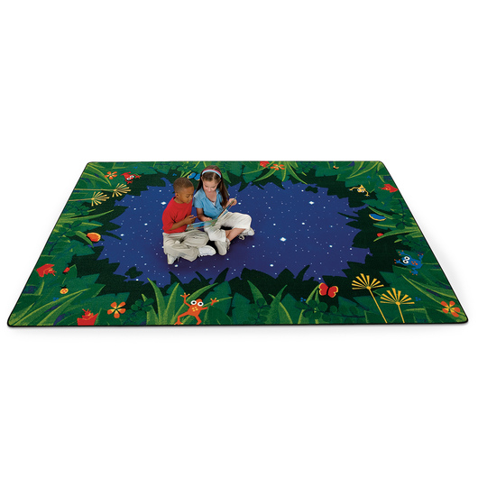 Peaceful Tropical Night Carpet - 3 ft. 10 in. x 5 ft. 5 in. Rectangle