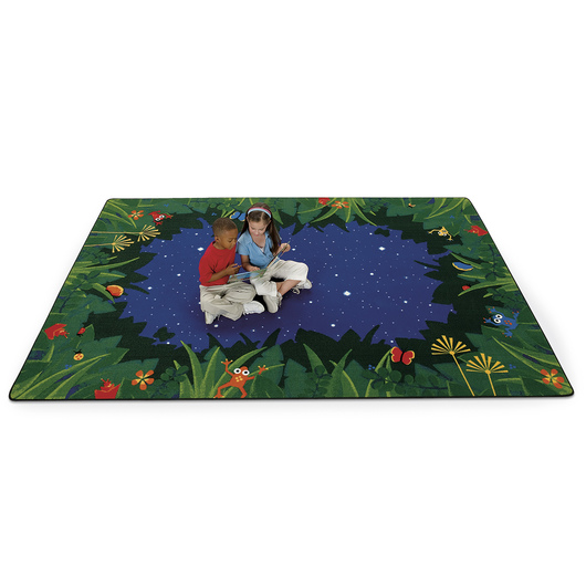 Peaceful Tropical Night Carpet - 8 ft. 8 in. x 12 ft. 10 in. Rectangle