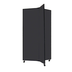 Three-Wing Mobile Display Tower - Gray Smoke