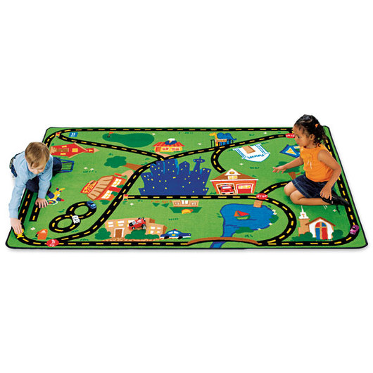 Cruisin' Around the Town Rug - 3 ft. 10 x 5 ft. 5 Rectangle