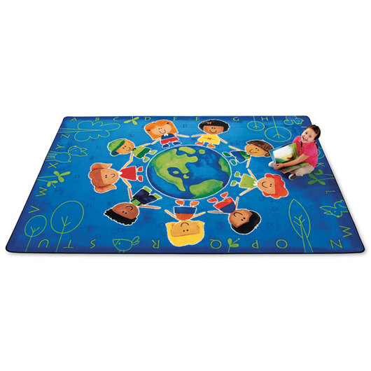 Give the Planet a Hug™ Rug - 3 ft. 10 x 5 ft. 5 Rectangle