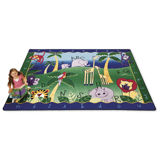 Alphabet Jungle Carpet - 4 ft. 5 x 5 ft. 10 Rectangle