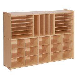 Angeles® Value Line Multi-Section Storage Unit with Tote Bins